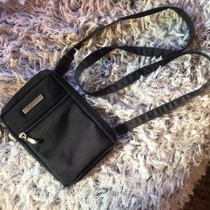 Baggallini black nylon crossbody or belt bag